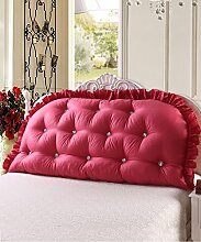 KKCFDIAN Bettseite Rückenlehne Baumwolle Bett Kissen Doppelbett Rückenlehne Kissen Bedside Big Kopfteil Kissen Waschbar ( Farbe : B , größe : 120*80cm )