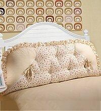 KKCFDIAN Bettseite Rückenlehne Baumwolle Bett Kissen Doppelbett Rückenlehne Kissen Bedside Big Kopfteil Kissen Waschbar ( Farbe : A , größe : 1m )
