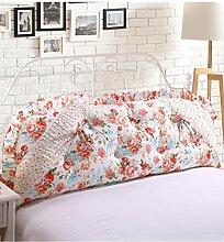 KKCFDIAN Bettseite Rückenlehne Baumwolle Bett Kissen Doppelbett Rückenlehne Kissen Bedside Big Kopfteil Kissen Waschbar ( Farbe : B , größe : 1.5m )