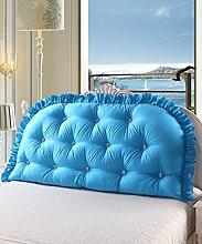 KKCFDIAN Bettseite Rückenlehne Baumwolle Bett Kissen Doppelbett Rückenlehne Kissen Bedside Big Kopfteil Kissen Waschbar ( Farbe : A , größe : 200*80cm )