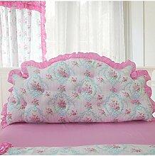 KKCFDIAN Bettseite Rückenlehne Baumwolle Bett Kissen Doppelbett Rückenlehne Kissen Bedside Big Kopfteil Kissen Waschbar ( Farbe : C , größe : 1.8m )