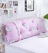 KKCFDIAN Bettseite Rückenlehne Baumwolle Bett Kissen Doppelbett Rückenlehne Kissen Bedside Big Kopfteil Kissen Waschbar ( Farbe : B , größe : 1m )