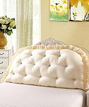 KKCFDIAN Bettseite Rückenlehne Baumwolle Bett Kissen Doppelbett Rückenlehne Kissen Bedside Big Kopfteil Kissen Waschbar ( Farbe : D , größe : 200*80cm )