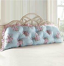 KKCFDIAN Bettseite Rückenlehne Baumwolle Bett Kissen Doppelbett Rückenlehne Kissen Bedside Big Kopfteil Kissen Waschbar ( Farbe : D , größe : 100*55cm )
