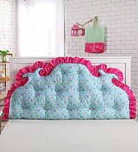 KKCFDIAN Bettseite Rückenlehne Baumwolle Bett Kissen Doppelbett Rückenlehne Kissen Bedside Big Kopfteil Kissen waschbar ( Farbe : B , größe : 1.8m )