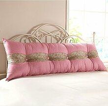 KKCFDIAN Bettseite Rückenlehne Baumwolle Bett Kissen Doppelbett Rückenlehne Kissen Bedside Big Kopfteil Kissen Waschbar ( Farbe : B , größe : 180*55cm )