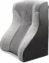 KKCFDIAN Dreieck Kissen Lendenwirbel Kissen Rückenlehne Kissen Hals und Taille Schutz Für Bett, Sofa ( Farbe : Grau )