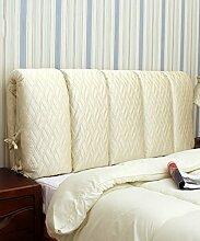 KKCFDIAN Tuch Bett Kissen Kopfteil Kissen Rückenlehne Kissen kann gewaschen werden ( Farbe : C , größe : 90*60CM )