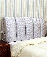KKCFDIAN Tuch Bett Kissen Kopfteil Kissen Rückenlehne Kissen kann gewaschen werden ( Farbe : F , größe : 125*60CM )