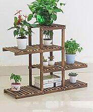 KKCFHUAJIA Blumenständer Massivholz Pflanze Stand
