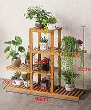 KKCFHUAJIA Massivholz Mehrstöckige Boden Pflanze