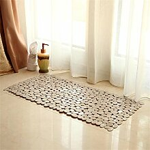 KKCFTAN Badezimmer-Tür-Matten-Fuß-Teppich-rutschfeste abnutzungsbeständige Matten-Teppich ( farbe : D , größe : 54*54CM )