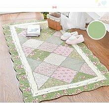 KKCFTAN Baumwolle Haushalt rechteckige Fußmatten Pastoral Schlafzimmer leben Rom Teppich ( farbe : C , größe : 90*180cm )