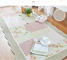 KKCFTAN Baumwolle Haushalt rechteckige Fußmatten Pastoral Schlafzimmer leben Rom Teppich ( farbe : K , größe : 70*180cm )