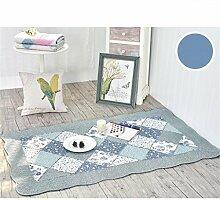 KKCFTAN Baumwolle Haushalt rechteckige Fußmatten Pastoral Schlafzimmer leben Rom Teppich ( farbe : I , größe : 90*155CM )