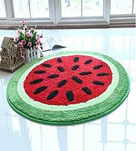 KKCFTAN Computer Stuhl Teppich Nachttisch rutschfeste wasserdichte runde Teppichboden Matte ( farbe : A , größe : 0.7M )