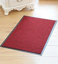 KKCFTAN Dickere gestreifte Türmatte Küche Wasserabsorption Anti-Rutsch-Bodenmatten Teppich ( farbe : Rot , größe : 60*90cm )