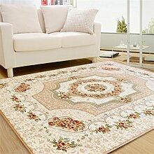 KKCFTAN Europäische Minimalistische Moderne Schlafzimmer Vollfußboden Teppich Wohnzimmer Sofa Schlafzimmer Große Wolldecke ( farbe : Gelb , größe : 150*200cm )