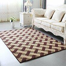 KKCFTAN Europäische Stil Verdickte Couchtisch Teppich Wohnzimmer Schlafzimmer Nachttisch Teppich ( farbe : E , größe : 1.4*2m )