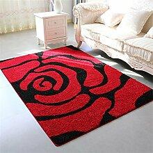 KKCFTAN Europäische Stil Verdickte Couchtisch Teppich Wohnzimmer Schlafzimmer Nachttisch Teppich ( farbe : A , größe : 1.4*2m )