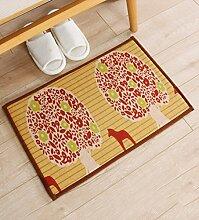 KKCFTAN Fußmatten Anti - Rutsch - Absorbent Home Leinen Teppich Pad, Door Mat, Bad, Küche, Schlafzimmer Mat Teppiche Türmatten Fußpolster ( Farbe : 3 , größe : 50*80cm )