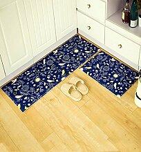 KKCFTAN Fußmatten Anti-Rutsch-Absorbent Home Teppich Pad, Tür Mat, Tür Mat, Küche Bad Schlafzimmer Mat Teppiche Türmatten Fußpolster (größe : 50*80cm+45*120cm)