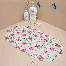 KKCFTAN Fußmatten Anti-Rutsch-Pad mit Saug-, Duschbad, Bad-Matte, WC-Matte (14 Farben optional) Teppiche Türmatten Fußpolster ( Farbe : L , größe : 39*70cm )