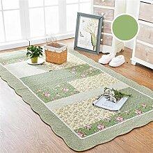 KKCFTAN Fußmatten Baumwolle Haushalt rechteckige Fußmatten Pastoral Schlafzimmer leben Rom Teppich Teppiche Türmatten Fußpolster ( Farbe : A , größe : 110*210CM )
