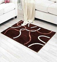 KKCFTAN Fußmatten Brown Wohnzimmer Sofa Couchtisch Fußboden Matten Anti-Rutsch Wasser Absorbent Fuß Teppich Teppiche Türmatten Fußpolster ( größe : 100*150cm )