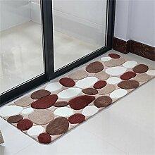 KKCFTAN Fußmatten Cobblestone-Fußmatte Fußwolldecke Anti-Rutsch Verschleißfeste Matten Teppich Teppiche Türmatten Fußpolster (Farbe : A, größe : 80*120cm)