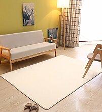 KKCFTAN Fußmatten Einfache moderne Haushalt starke rechteckige Koralle Velet Teppich, maschinen waschbar, Wohnzimmer Couchtisch Teppich, Schlafzimmer Bedside Teppich Pad, Matte, 10 Farben Optional Teppiche Türmatten Fußpolster ( Farbe : 2 , größe : 1.2*2.0m )