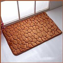 KKCFTAN Fußmatten Europäische Anti-Blockier-System Absorbent Bodenmatte, Badezimmer, Küche, Schlafzimmer Teppich-Pad, multi-color optional Teppiche Türmatten Fußpolster ( Farbe : G , größe : 45*75cm )