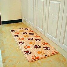 KKCFTAN Fußmatten Foyer Rutschfeste Matten, Wohnzimmer Schlafzimmer Küche Rectangular Teppich, Fußmatten, (40-80cm * 60-160cm) Teppiche Türmatten Fußpolster ( größe : 80*120cm )