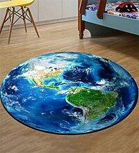KKCFTAN Fußmatten Fußbodenmatte Europäischer runder Teppich einfaches Wohnzimmer Schlafzimmer Studie Teppich Computer Stuhl Matte Teppiche Türmatten Fußpolster (größe : 0.8m)