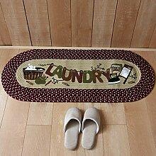 KKCFTAN Fußmatten Handgemachte Flachs Türmatten, Badezimmer Wohnzimmer Schlafzimmer Küche Bad Anti-Rutsch-Matte Bodenmatte Matte, 50 * 123cm Teppiche Türmatten Fußpolster ( Farbe : C , größe : 50*123cm )