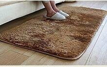 KKCFTAN Fußmatten Hochwertige dicke super-soft Seide rutschfester Teppich, Waschmaschine, waschbar, Schlafzimmer, Bedside Window Mat Teppiche Türmatten Fußpolster (Farbe : H, größe : 80*120cm)