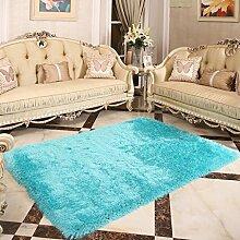 KKCFTAN Fußmatten Im europäischen Stil dicken Teppich Wohnzimmer Couchtisch Teppich Schlafzimmer Nacht Eingang Teppiche, 1.4 * 2.0m, Mats (10 Farben) Teppiche Türmatten Fußpolster ( Farbe : F , größe : 1.4*2.0m )