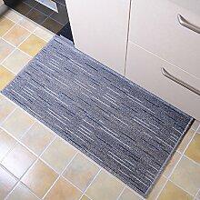 KKCFTAN Fußmatten Küche rutschfeste ölfeste Fußmatten Wasserabsorbierende Verschleißfeste Fußteppich Teppiche Türmatten Fußpolster ( Farbe : Grau , größe : 50*300cm )