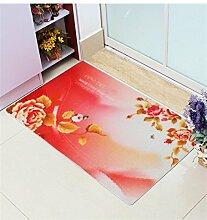 KKCFTAN Fußmatten Mat Wasserdichte Tür Boden Teppich Teppich Badezimmer Anti-Roll Schlafzimmer Matten Boden Teppich Teppiche Türmatten Fußpolster (Farbe : H, größe : 60*90CM)