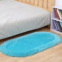 KKCFTAN Fußmatten Modern Einfache Dicke Ovale Schlafzimmer Bedside Mat Wohnzimmer Couchtisch Teppich Fuß Teppich Teppiche Türmatten Fußpolster (Farbe : H, größe : 80*160cm)