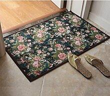 KKCFTAN Fußmatten Pastoral Türmatten Küche Lange Fußmatten Schlafzimmer Fußteppich Teppiche Türmatten Fußpolster (Farbe : B, größe : 50*80cm)