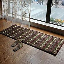 KKCFTAN Fußmatten Pastoral Türmatten Küche Lange Fußmatten Schlafzimmer Fußteppich Teppiche Türmatten Fußpolster (größe : 50*65cm)