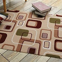 KKCFTAN Fußmatten Rechteck-Türmatte Fuß Teppich Anti-Rutsch Verschleißfest Verdickte Matten Teppich Teppiche Türmatten Fußpolster (Farbe : A, größe : 120*120CM)
