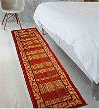 KKCFTAN Fußmatten Schlafzimmer Nachttisch Teppich rutschfest Verschleißfeste Wasserabsorption Fußteppich Bodenmatte Teppiche Türmatten Fußpolster (größe : 70*210cm)