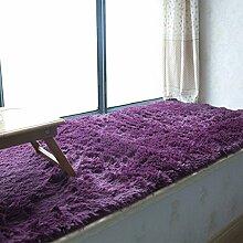 KKCFTAN Fußmatten Sponge Laminat-Teppich, Anti-Rutsch-Balkon-Matten schwimmende Fenstermatten, Fußmatten, Fensterbank Teppiche, Teppiche Türmatten Fußpolster (größe : 90*160cm)