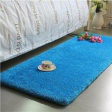 KKCFTAN Fußmatten Thicker Full Floor Türmatten Schlafzimmer Nachttisch Teppich Long Bay Fenstermatten Teppiche Türmatten Fußpolster ( Farbe : G , größe : 60*160cm )