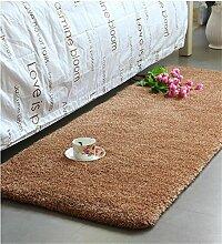 KKCFTAN Fußmatten Thicker Full Floor Türmatten Schlafzimmer Nachttisch Teppich Long Bay Fenstermatten Teppiche Türmatten Fußpolster ( Farbe : J , größe : 80*200cm )