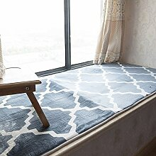 KKCFTAN Fußmatten Verdickte schwimmende Fenstermatten, Fensterbankteppiche, rutschfeste Balkonmatten, Schwammpads (vierfarbig Optional) Teppiche Türmatten Fußpolster (Farbe : D, größe : 70*210cm)