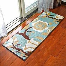 KKCFTAN Fußmatten Verschleißfest Chemische Faser Anti-Rutsch-Matten Fußmatte saugfähige Matten Schlafzimmer Küche Teppich Teppiche Türmatten Fußpolster (Farbe : C, größe : 80*110CM)