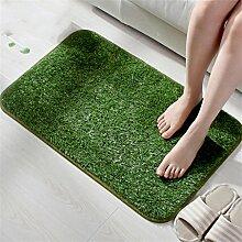 KKCFTAN Grüne Rasen Türmatten rutschfeste Wasser saugfähige Boden Matte Schlafzimmer Wohnzimmer Teppich ( größe : 40*60cm )